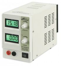 McPower NG-1620BL Labornetzgerät regelbar 0-15 V, 2 A, 2x beleuchtete LCDs, 30 W