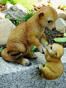 Wunderschöne Dekofigur-- Erdmännchen mit Baby--für Haus und Garten--ca. 23 cm