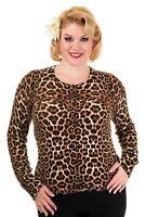 Leopard Vintage 50's Retro Rock Rockabilly PLUS SIZE Cardigan BANNED Apparel