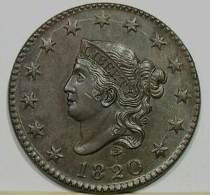 1820 Coronet Head Large Cent Large Date