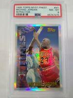 1995 Topps Mystery Finest *Refractor* #M1 (PSA 8) Michael Jordan NM-MT!