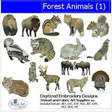 Embroidery Design CD - Forest Animals(1) - 15 Designs - 9 Formats - Threadart