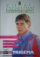 Programm 1992/93 Bor. Mönchengladbach - FC Schalke 04