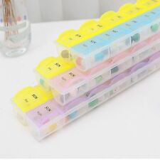 Pill Weekly Plastic Case Container Storage 14 Slots Organizer Medicine Box