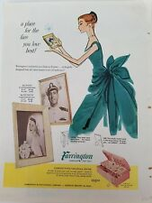 1956 Farrington vintage Saratoga trunk pink jewelry box ad
