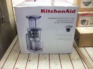 KitchenAid KVJ0111CU Onyx Black Maximum Extraction Slow Juicer New In Box