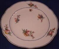 Antique 18thC Sevres Porcelain Floral Softpaste Plate Porzellan Teller French