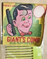 VINTAGE BIG 12 INCH GIANT'S COMB 1980S YELLOW PLASTIC RACK TOY MINT IN PACK MIP!