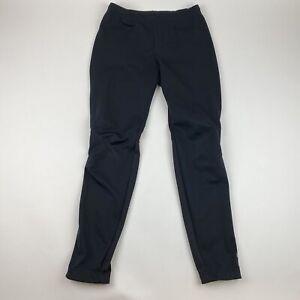 Novara Women's Size Small Black Lined Nylon Ankle Zip Cycling Pants