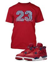 23 Take Flight Tee Shirt To Match AIR JORDAN 4 FIBA Shoe Graphic Shirt Pro Club