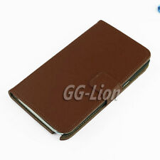 Brown Flip Wallet Leather Case Cover Stand For Samsung Galaxy Note 2 II N7100