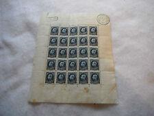 RARE planche de Timbre Neuf G . Montenez 50 C Belgique Belgie