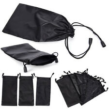 3X Microfiber Pouch Bag Soft Cleaning Case Sunglasses Eyeglasses Glasses Black P