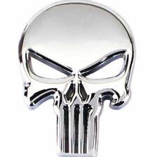 Tuning Metal Body Emblem Car Motorcycle 3D silver Auto The Punisher Skull Badge.