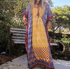 Women's Caftan Dress Kaftan DASHIKI HIPPIE BOHEMIAN CHIC Beach Cover