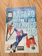 Nagano Winter Olympics 98 Instruction Manual Only N64 Nintendo 64