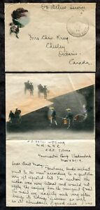 p608 - Canada 1919 CSEF Siberia Cover with Letter. Siberian Force. Scarce
