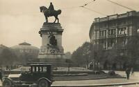 VINTAGE REAL PHOTO GARIBALDI MONUMENT MILAN POSTCARD - by Fratelli Marco
