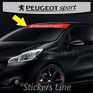 Adhesivo Banda Sombrilla Peugeot Sport + Logo X 206-207-208-307 - 308ECC