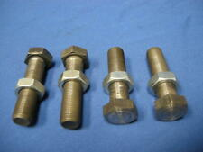 """NEW 4 PIECES 3/4-16 X 3"""" LENGTH HEX BOLT / SCREW WITH NUT MACHINE LEVELING FEET"""