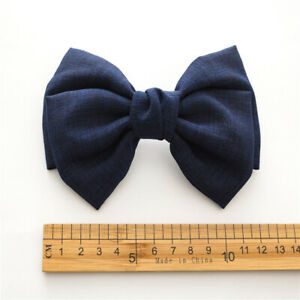 Oversized Bow Knotted Linen Barrettes Hair Clip Ponytail Clip Hair Accessories