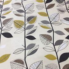 Prestigious Textiles Autumn Leaves Sulphur Fabric