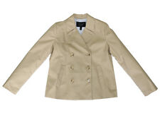 J Crew Japanese Cotton Poplin Swing Trench Coat British Khaki Size 4