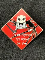 Jack Skellington NBC I'm the Nightmare they warned you about Disney Pin 63594