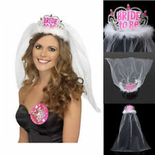 Bride To Be Crown Tiara Lace Veil Hen Night Party Accessories Wedding Bridal
