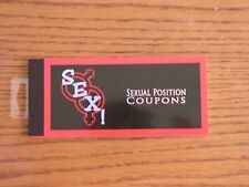 Sexual Position Coupon Vouchers Book 20 Coupons Sexual Positions great gift for