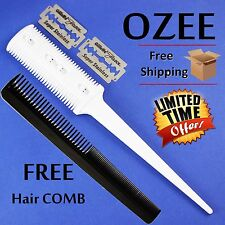Professional Hair Cut Home Hair Razor Comb Hairdressing Thinning Trimmer Tool