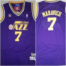 RARE Pete 'Pistol' Maravich Utah Jazz Replica Throwback XL Basketball Jersey