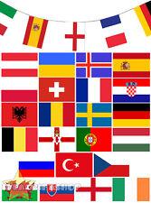 Défectueux euro football 2016 bunting 35FT drapeau décoration 24 drapeaux tous pays