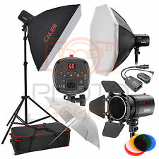 Flash Softbox Lighting Kit - 750 W (3x250w) Jinbei 3 Cabeza Studio Strobe Photo Set