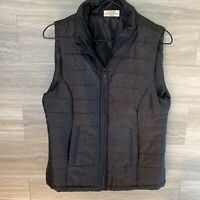 Women's Size M Bobbie Brooks Black Quilted Polyester Vest Zip Closure