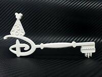 Disney Happy Birthday Key Accurate Scale High Detail 3D Print Custom - White