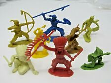 Plastic American Indians Native Americans Toy Figurines