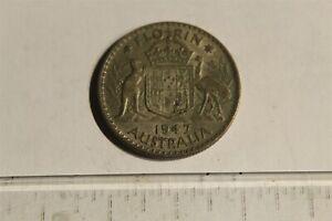 AUSTRALIA 1947 FLORIN SILVER KM40a
