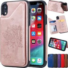 Flip Leather Card Holder Wallet Case Cover For iPhone 6 6S 7 8 Plus XS XR XS Max
