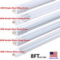 90W 65W 45W 8FT FA8 Single Pin LED Tube T12 T10 T8 LED Shop Light  Bulb Dual-End