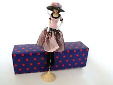 Tassel Dolls Popular Creations Pink and Black with black hat Tassel Doll TD289