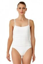 ANNE COLE LIVE IN COLOR SHIRRED LINGERIE MAILLOT ONE PIECE SWIMSUIT (white)  6