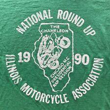 4f66b31c VTG ILLINOIS MOTORCYCLE ASSOCIATION RALLY T-SHIRT MEN SZ L HARLEY DAVIDSON  80s