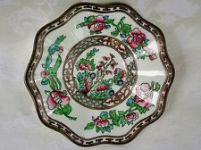 Coalport China Indian Tree Multicolor Older Scalloped Saucer Only