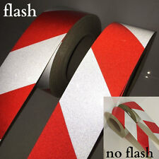Red White & yellow/black Reflective Safety Conspicuity Tape Stickers 50mm x10MT