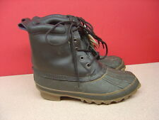 Men's ITASCA Brown Leather Thermo Lite Rubber Waterproof Boots Size 8 with Tags