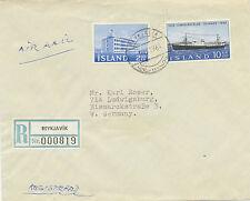 ISLAND 1964 Gewerbeschule Reykjavik + 50 Jahre isländische Dampfschiff