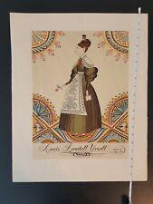 Folk Art Annie Randall Yoxall 1837 Age 24 Folk Art Print Reprint 17x21