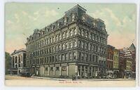 Scott Block ERIE PA Vintage 1910 Pennsylvania Postcard