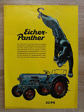 Original Eicher Panther Traktor  Prospekt